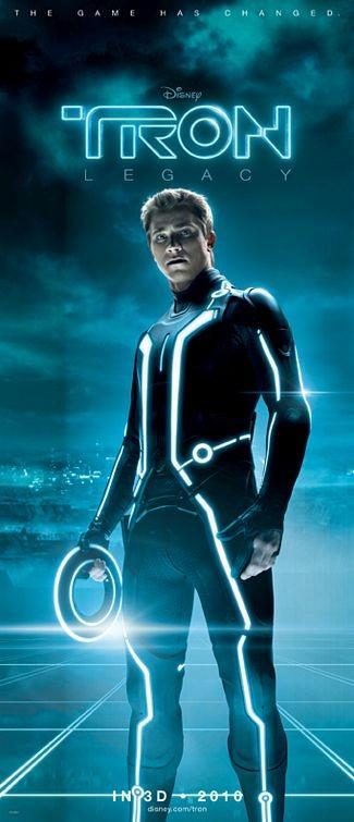 Character poster per Tron Legacy - Garrett Hedlund