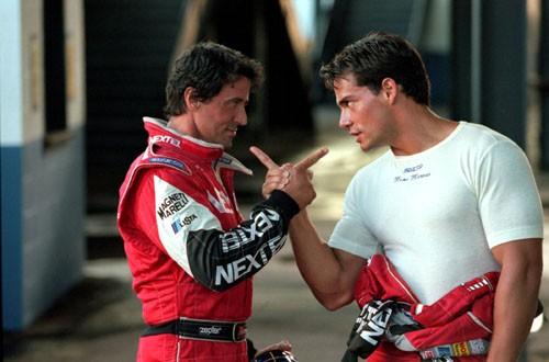 Cristian de la Fuente accanto a Stallone in Driven