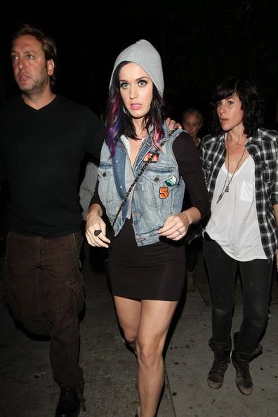 Katy Perry all'uscita del Club L a West Hollywood