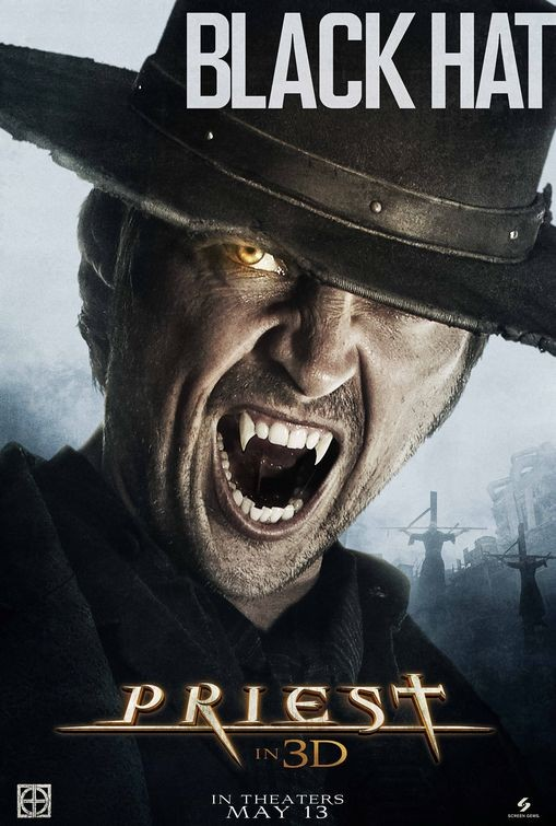 Character poster per Priest - Black Hat