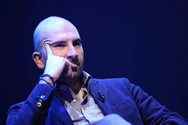 Donato Carrisi all\'Auditorium Parco della Musica all\'incontro \'Come si scrive un giallo\'. Fotografie di Musacchio & Ianniello.