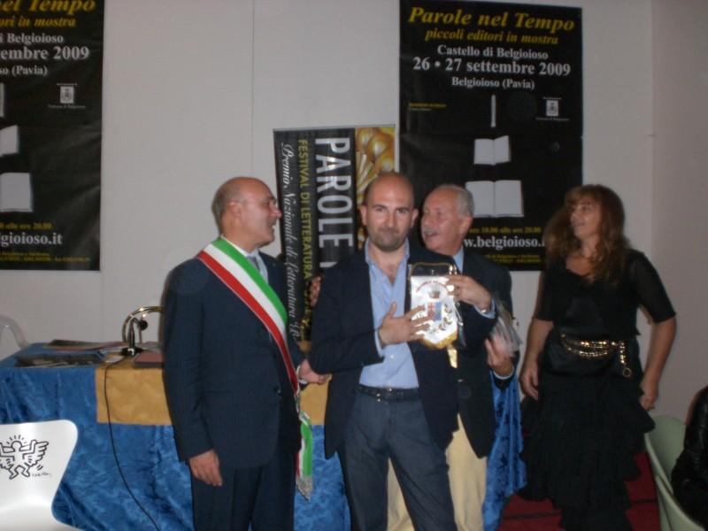 Donato Carrisi vincitore della seconda edizione del Premio Belgioso Giallo (Foto di Ambretta Sampietro)