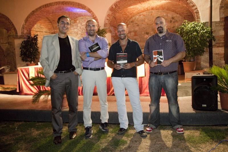 Giampaolo Simi, Donato Carrisi, Gianfranco Nerozzi e Alberto Custerlina. Premio Camaiore 2009.