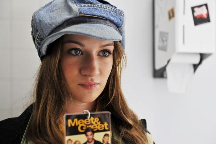 Nina Gummich in un'immagine del film Groupies bleiben nicht zum Frühstück
