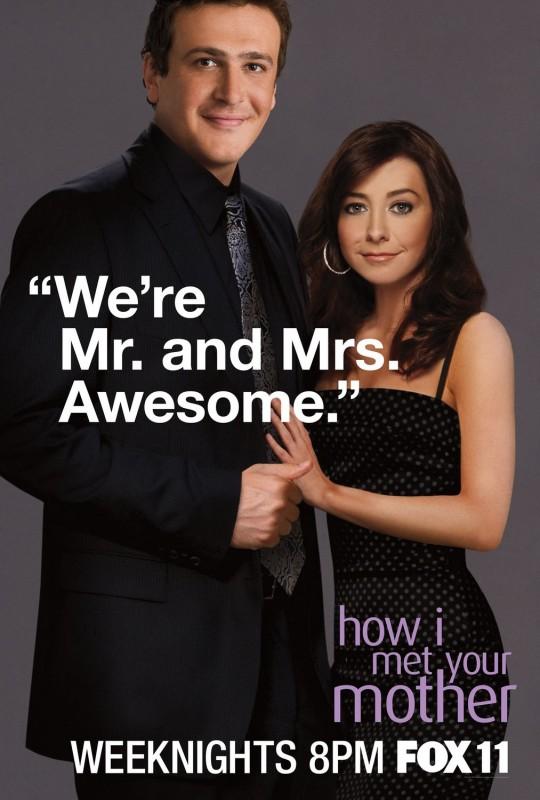 Character poster dei personaggi di Jason Segel ed Alyson Hannigan per la stagione 6 di How I Met Your Mother