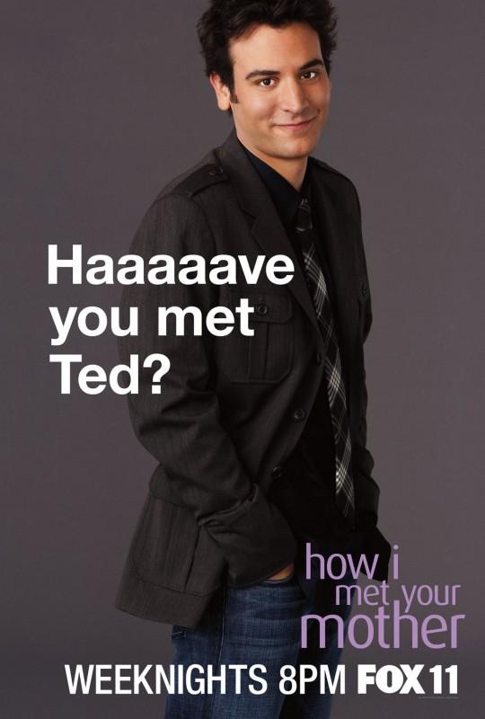 Character poster del personaggio di Josh Radnor per la stagione 6 di How I Met Your Mother
