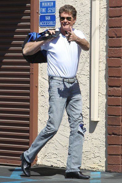 David Hasselhoff fuori dalla sala prove per 'Dancing with the Stars' in Hollywood