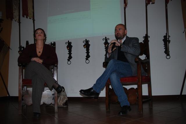 Donato Carrisi e Amanda Colombo. Foto di Luigi Paganini.