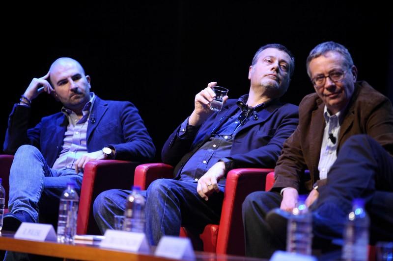 Donato Carrisi, Massimo Carlotto, Ranieri Polese. Auditorium Parco della Musica. Foto di Musacchio & Ianniello