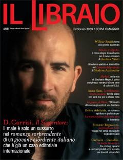 Donato Carrisi sulla cover della rivista Il Libraio
