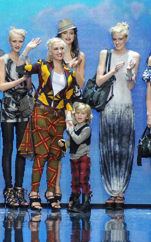 Gwen Stefani e il figlio alla sfilata per la sua collezione al Lincoln Center di New York