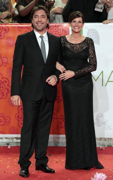 Julia Roberts e Javier Bardem alla premiere romana del film Mangia, prega, ama