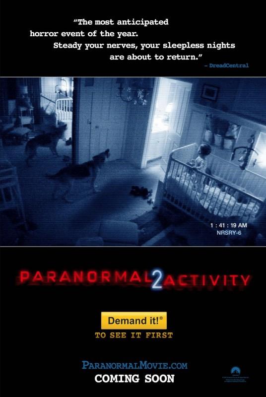 La locandina di Paranormal Activity 2