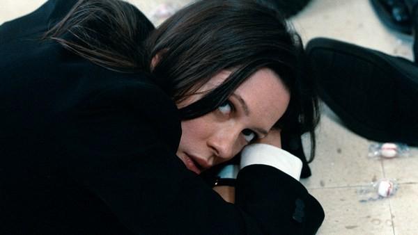 Rebecca Hall nella scena della rapina in banca in The Town (2010)