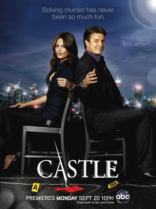 Un poster della stagione 3 di Castle