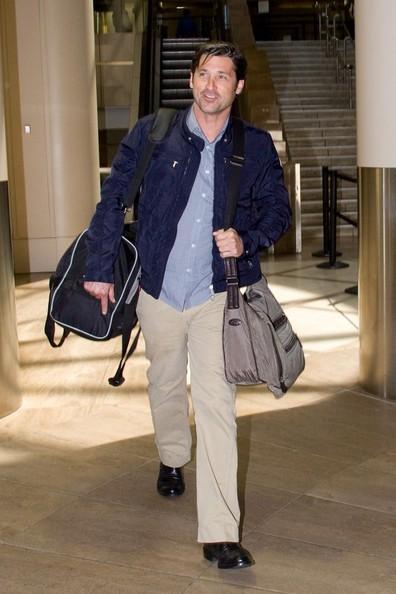 Patrick Dempsey arriva al Los Angeles International Airport