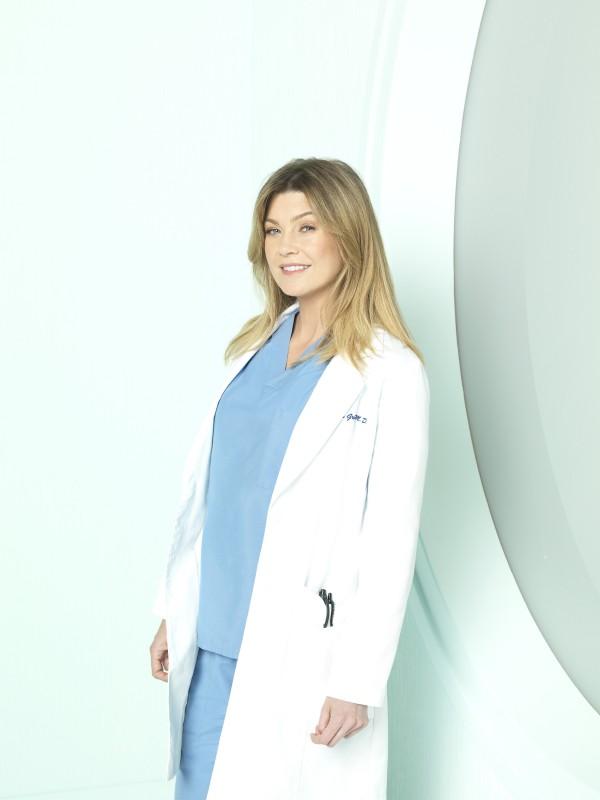 Ellen Pompeo in una foto promozionale della stagione 7 di Grey's Anatomy