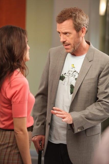 Hugh Laurie e Lisa Edelstein nell'episodio Selfish di Dr House