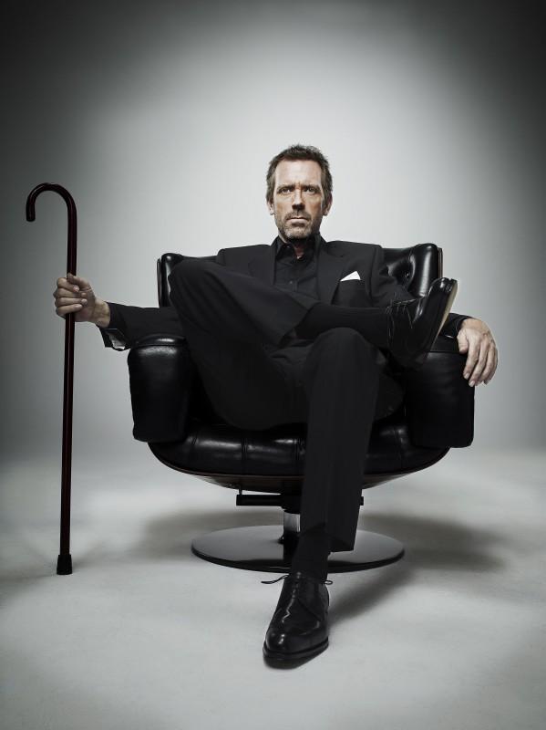 Hugh Laurie in una immagine promozionale della stagione 7 di Dr House