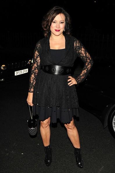 Jennifer Tilly posa per i fotografi durante la London Fashion Week