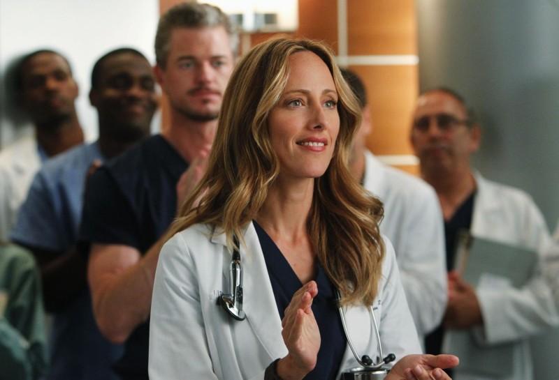 Kim Raver nell'episodio With You I'm Born Again di Grey's Anatomy