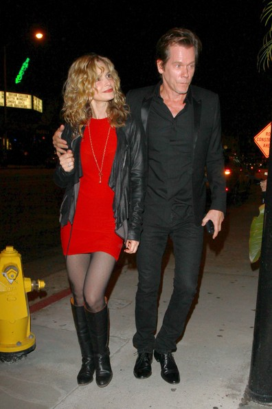 Kyra Sedgwick e Kevin Bacon fuori dal ristorante Red O Mexican a West Hollywood