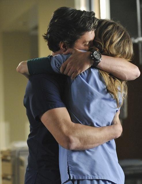 Patrick Dempsey ed Ellen Pompeo nell'episodio Shock to the System di Grey's Anatomy