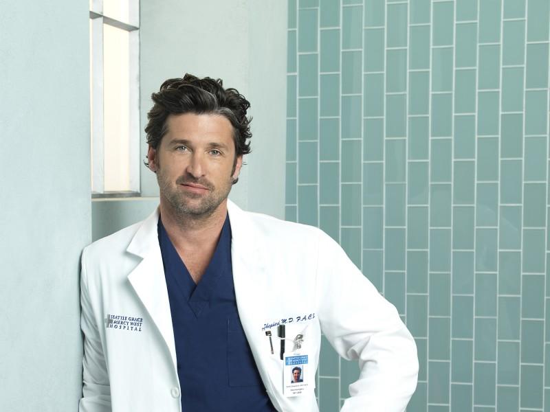 Patrick Dempsey in una foto promozionale della stagione 7 di Grey's Anatomy