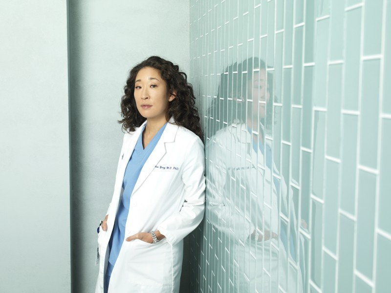 Sandra Oh in una foto promozionale della stagione 7 di Grey's Anatomy