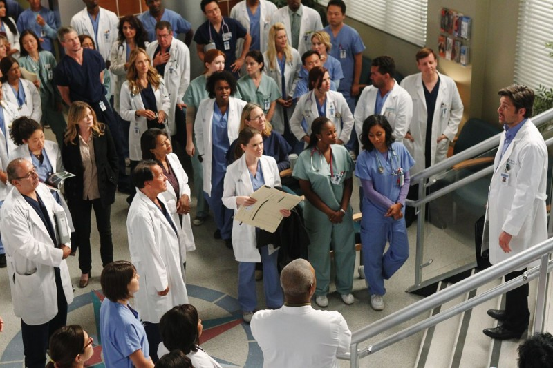 Un momento dell'episodio With You I'm Born Again di Grey's Anatomy