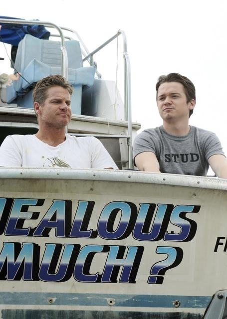 Dan Byrd e Brian Van Holt nell'episodio Let Yourself Go di Cougar Town
