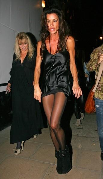 Janice Dickinson fuori dalla London Fashion Week