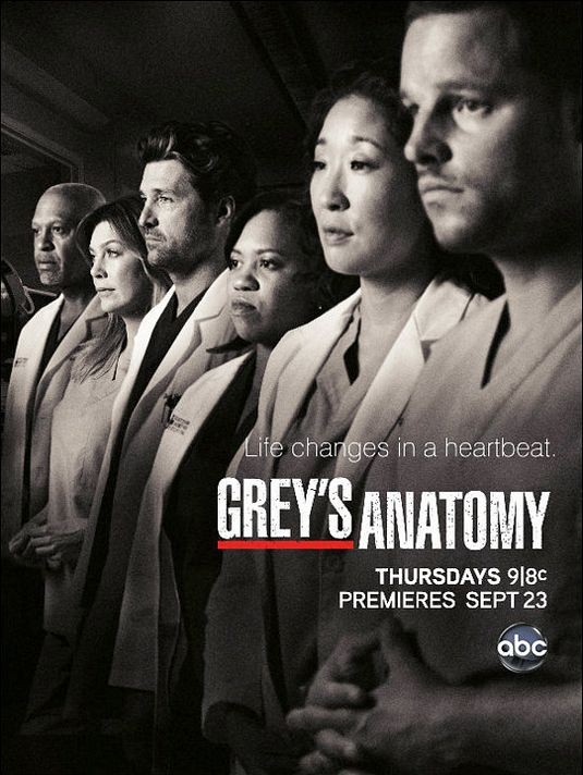 Un poster della stagione 7 di Grey's Anatomy