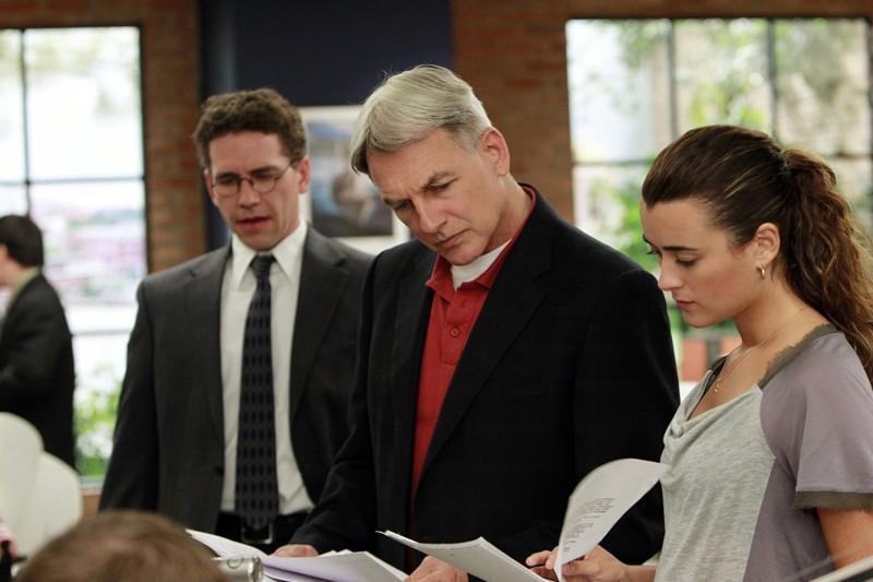 Brian Dietzen, Mark Harmon e Cote de Pablo nell'episodio Worst Nightmare di N.C.I.S.