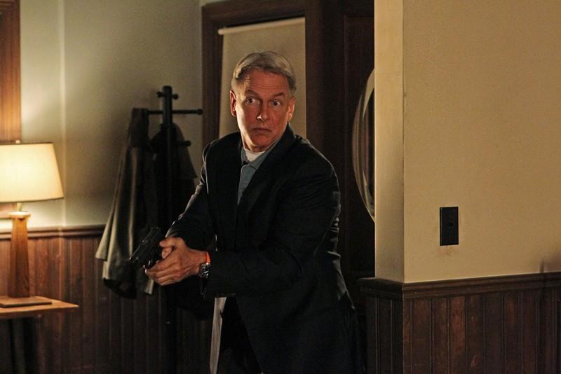 Gibbs (Mark Harmon) in azione nell'episodio Spider and the Fly di N.C.I.S.