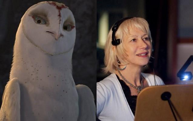 Helen Mirren presta la sua voce a Nyra nel fantasy Legend of the Guardians - The Warrior