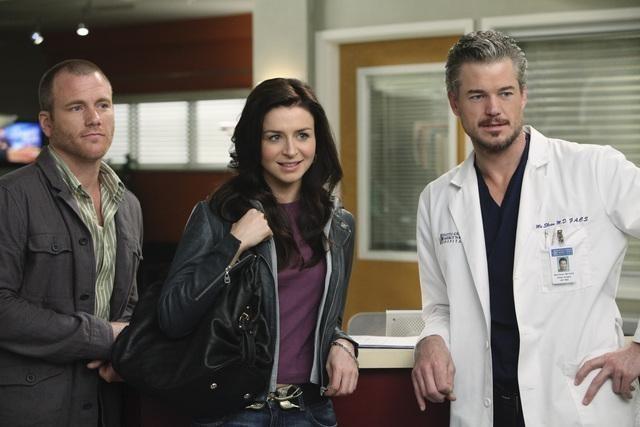 Sean Carrigan, Caterina Scorsone ed Eric Dane nell'episodio Superfreak di Grey's Anatomy