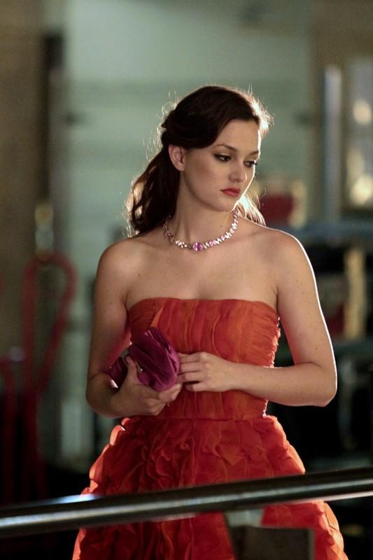 Una pensierosa Blair (Leighton Meester) nell'episodio Double Identity di Gossip Girl