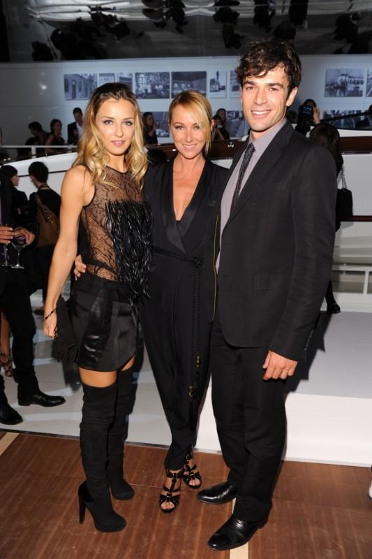 Luca Argentero e Myriam Catania al cocktail Acquaviva con Frida Giannini, direttore creativo di Gucci
