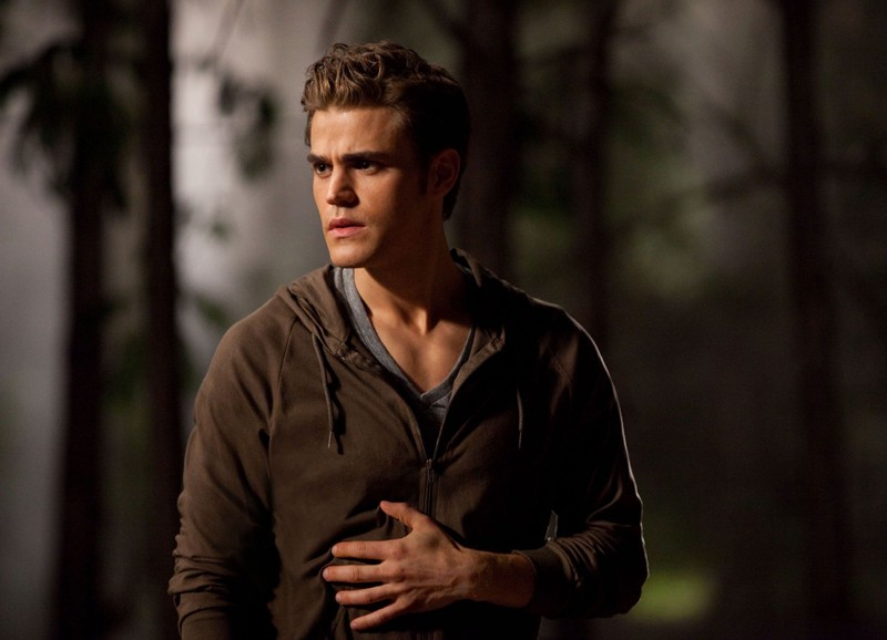 Paul Wesley in una scena dell'episodio Bad Moon Rising di Vampire Diaries