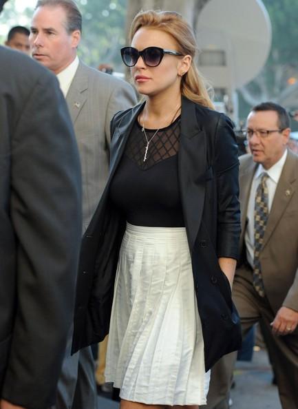 Lindsay Lohan al Palazzo di Giustizia a Beverly Hills