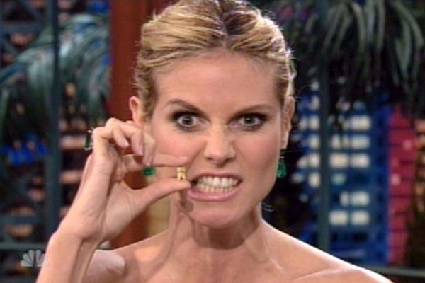 Heidi Klum e il suo dente fortunato