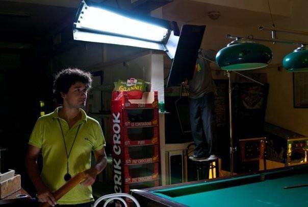 Il direttore della fotografia Davide Manca sul set di Et in Terra Pax