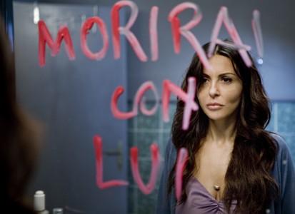 Sabrina Ferilli in un momento della fiction Caldo Criminale
