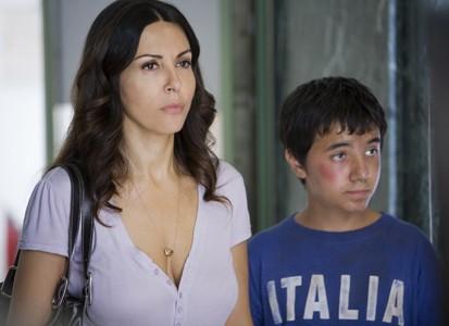Sabrina Ferilli in una scena della fiction Caldo Criminale