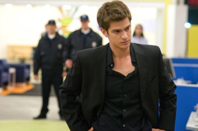 Andrew Garfield in una scena di The Social Network