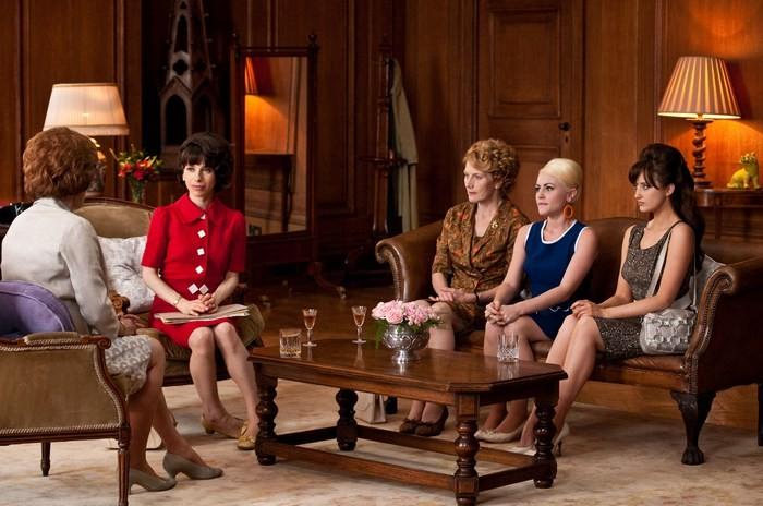 Miranda Richardson, Sally Hawkins, Geraldine James e Jaime Winstone nel film We Want Sex