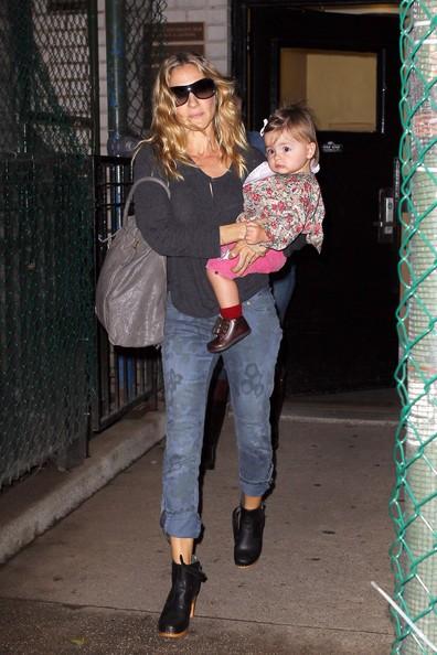 Sarah Jessica Parker con le gemelline Tabitha e Marion a New York