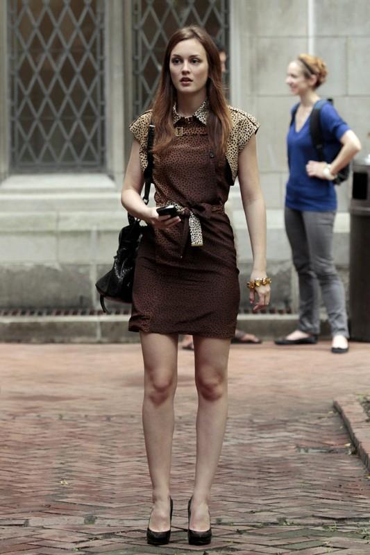 Blair (Leighton Meester) e il suo primo giorno alla Columbia nell'episodio The Undergraduates di Gossip Girl