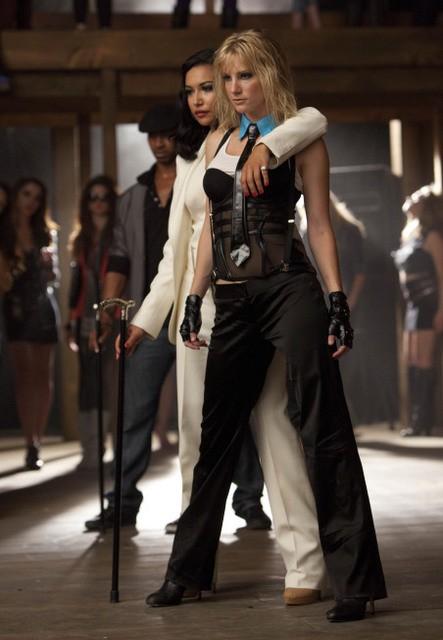 Heather Morris e Naya Rivera nell'episodio Britney/Brittany di Glee